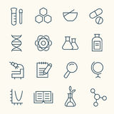 Science icon set. Vector Illustration Stock Photography
