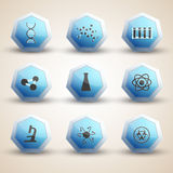 Science icones set Royalty Free Stock Photos