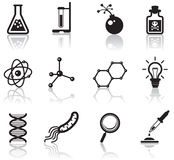 Science icons Royalty Free Stock Image