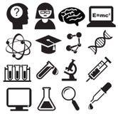 Science icons Stock Photos