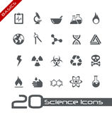 Science Icons // Basics Royalty Free Stock Photo