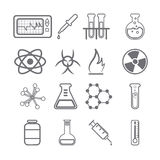 Science Icons black Series Stock Photo