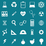 Science icons on blue background Royalty Free Stock Photos