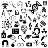 Science icons collection Stock Images