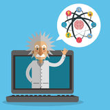 Science icons design Royalty Free Stock Images