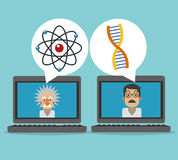 Science icons design Royalty Free Stock Photos