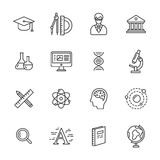 Science Icons Stock Photography