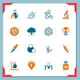 Science icons | In a frame series. Science and education icons | In a frame series Royalty Free Stock Photo