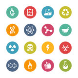 Science Icons -- Fresh Colors Series. Vector Icons and buttons in different layers, easy to change colors Royalty Free Stock Image