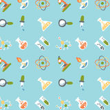 Science icons pattern design Stock Photography