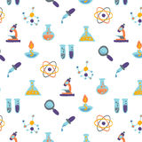 Science icons pattern design Royalty Free Stock Images