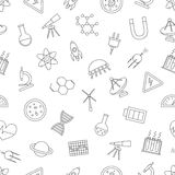 Science icons pattern Stock Photo