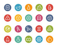 Science Icons -- Printemps Series Royalty Free Stock Image