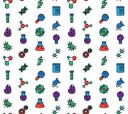 Science icons seamless pattern Stock Images