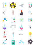 Science  icons set. Set of 24 science  icons Royalty Free Stock Photo