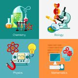 Science Icons Set Royalty Free Stock Photos