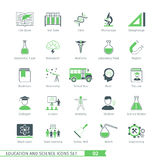 Science Icons Set 02. Education And Science Icons Set 02 Royalty Free Stock Photos