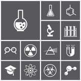 Science icons Royalty Free Stock Photos