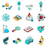 Science Icons Set Stock Images