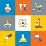 Science icons Set and Signs Royalty Free Stock Image