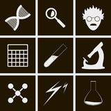 Science icons. Set of icons on theme science Stock Images