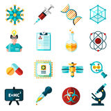 Science Icons Set Stock Image