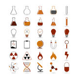 Science icons. Set of vector science, chemistry icon for design on white background Royalty Free Stock Image