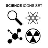 Science icons set. Vector illustration. Science icons set. Silhouette vector illustration Stock Image