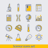 Science icons set vector illustration Stock Photo
