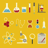 Science icons set Stock Photo