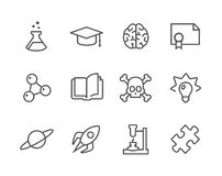 Science Icons Royalty Free Stock Photography