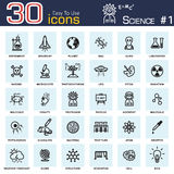 Science icons Stock Photo