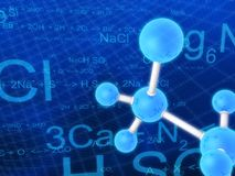 Science illustration Stock Image