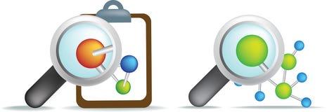 Science illustration examining cells Royalty Free Stock Photo