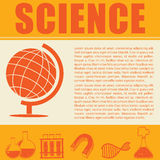 Science infographic with symbols and text Royalty Free Stock Images
