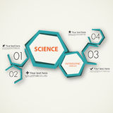 Science infographic template Stock Photography