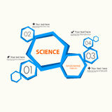 Science infographic template Stock Image