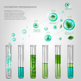 Science infographics. Vector illustration of science infographics with transparent bubbles. Ecology Concept Stock Photo