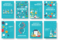Science information cards set. laboratory template of flyear, magazines, posters, book cover, banners. Chemistry. Infographic concept background. Layout Stock Images