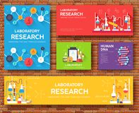 Science information cards set. laboratory template of flyer, magazines, posters, book cover, banners. Chemistry. Infographic concept background. Layout Stock Photo