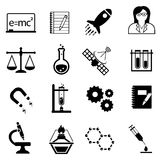 Science, innovation and discovery icons stock illustration