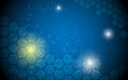 Science innovation molecular structure design abstract background Royalty Free Stock Image