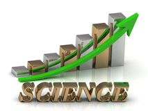science inscription of gold letters and Graphic growth Royalty Free Stock Images