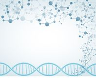 Science on isolated background with DNA theme and molecular Royalty Free Stock Photos