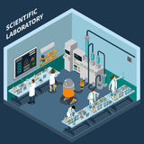 Science Isometric Concept Royalty Free Stock Image