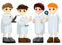 Science Kids Stock Images