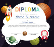 Science kids diploma template Royalty Free Stock Photo