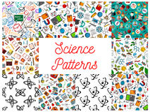 Science and knowledge seamless pattern wallpapers Royalty Free Stock Image