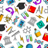 Science and knowledge seamless wallpaper Stock Photo