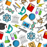 Science and knowledge seamless wallpaper Royalty Free Stock Photos